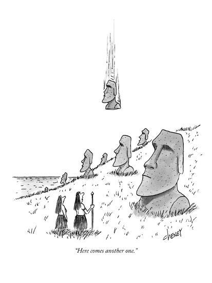 """""""Here comes another one."""" - New Yorker Cartoon-Tom Cheney-Premium Giclee Print"""