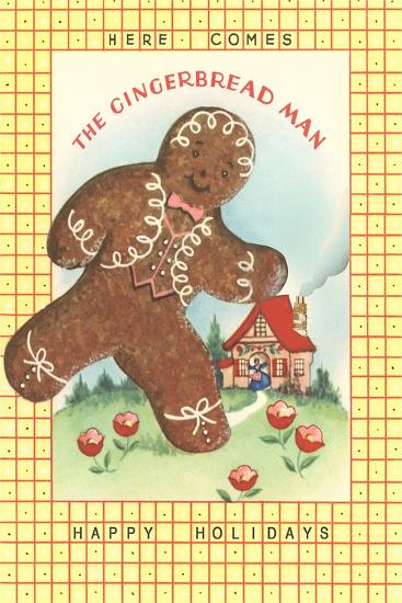 Here Comes Gingerbread Man--Art Print