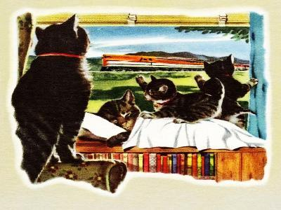 Here Comes Your Train, Chester-Charles Bracker-Giclee Print