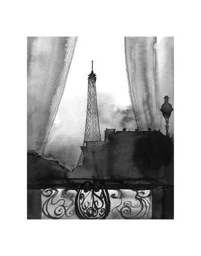 Here?s Looking at You Paris (B/W)-Jessica Durrant-Art Print