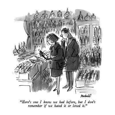 """Here's one I know we had before, but I don't remember if we hated it or l?"" - New Yorker Cartoon-Frank Modell-Premium Giclee Print"