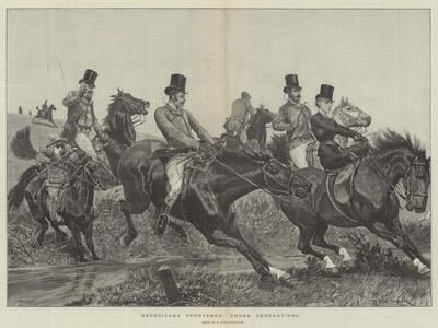 Hereditary Sportsmen, Three Generations-Richard Caton Woodville II-Giclee Print