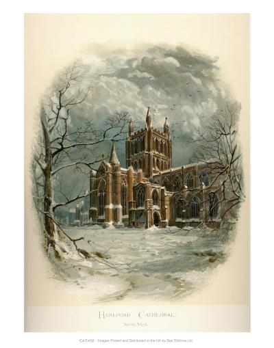 Hereford Cathedral, North West-Arthur Wilde Parsons-Art Print