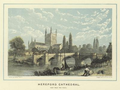 Hereford Cathedral, View from the River-Benjamin Baud-Giclee Print