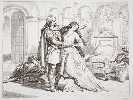Hereward's First Interview with Torfrida-Henry Courtney Selous-Giclee Print