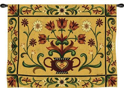 Heritage Floral-Jennifer Brinley-Wall Tapestry