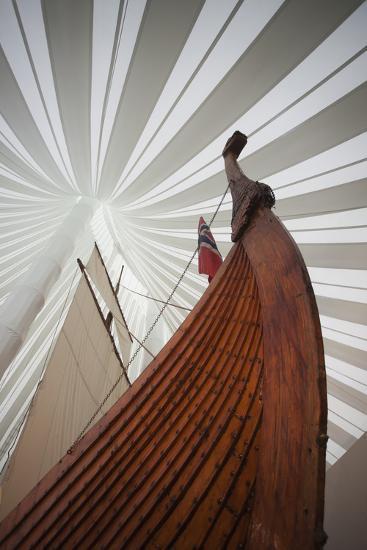 Heritage Hejmkomstviking Ship Replica, Moorhead, Minnesota, USA-Walter Bibikow-Photographic Print