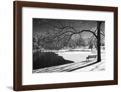 Heritage Pond in Winter-Monte Nagler-Framed Giclee Print