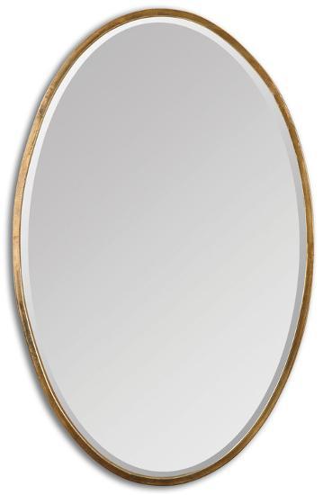 Herleva Gold Oval Mirror--Wall Mirror