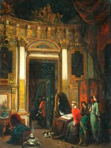 Interior With Figures by Herman Frederik Carel Tenkate
