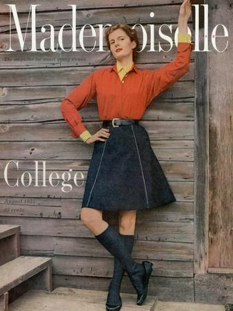 Mademoiselle Cover - August 1954