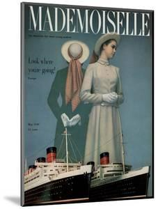 Mademoiselle Cover - May 1949 by Herman Landshoff