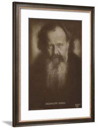 Hermann Bahr--Framed Photographic Print