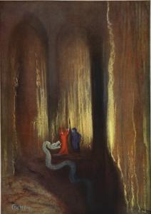 Dark Cavern, 1906 by Hermann Hendrich
