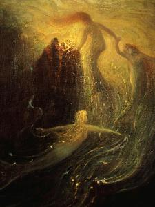 Das Rheingold (Rhinegold), Opera from the Ring of the Nibelungen Cycle by Richard Wagner, 1813-83 by Hermann Hendrich