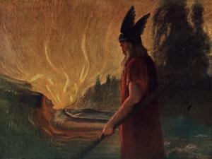 Instantly a Stream of Fire Gushed Forth by Hermann Hendrich