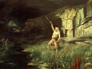 Siegfried, Hero of the Ring of the Nibelungen Opera Cycle by Richard Wagner, 1813-83 by Hermann Hendrich