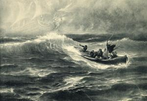 """Sighting of """"The Flying Dutchman"""" Raises False Hopes for a Boatload of Shipwreck Survivors by Hermann Hendrich"""
