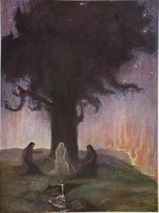 The Norns, 1906 by Hermann Hendrich