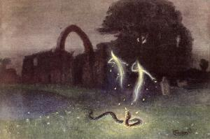 Will-O'-The-Wisp and Snake by Hermann Hendrich