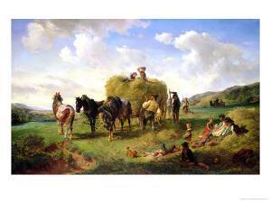 The Hay Harvest, 1869 by Hermann Kauffmann