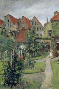 Urban Garden in Luebeck (Johannisstrasse 64), 1891 by Hermann Linde