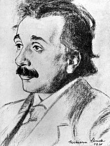 Albert Einstein (1879-195), German-Swiss Mathematician and Theoretical Physicist, 1920 by Hermann Struck