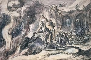 Eurydice in Hell, 1620 by Hermann Weyer
