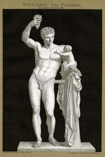 Hermes and the Infant Dionysos Attributed to Praxiteles C.1895 (Colour Chromolithograph)--Giclee Print