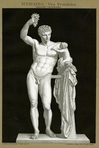 Hermes and the Infant Dionysos Attributed to Praxiteles C.1895 (Colour Chromolithograph)