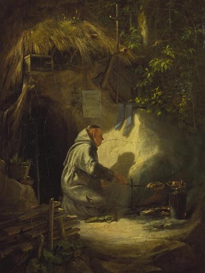 Hermit, Roasting a Chicken, 1841-Carl Spitzweg-Giclee Print