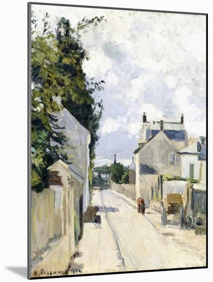 Hermitage Street, Pontoise, 1874-Camille Pissarro-Mounted Giclee Print