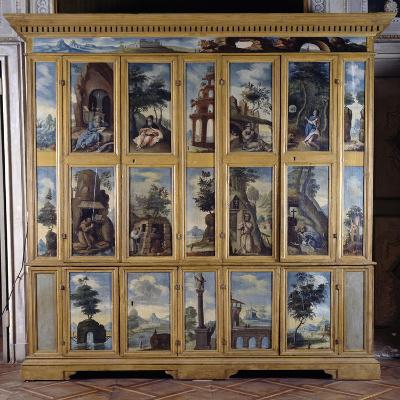 Hermits Wardrobe, 1623, Painted with Images of Hermits in Prayer, Italy--Giclee Print