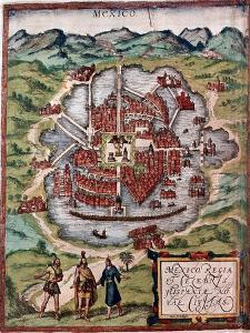 Mexico City in the Early 16th Century by Hernando Cortes