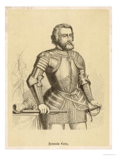 Hernando Cortes Spanish Conquistador in Mexico--Giclee Print