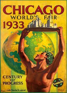 Chicago World's Fair 1933, Century of Progress, Santa Fe Railroad by Hernando Villa