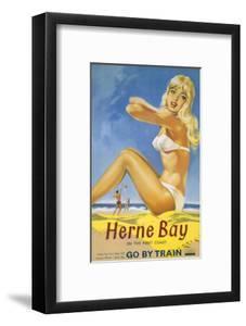 Herne Bay Girl in White Bikini