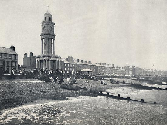 'Herne Bay - The Front, Showing Clock Tower', 1895-Unknown-Photographic Print