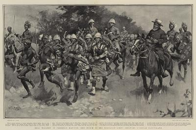 Hero Worship by Friendly Natives, the March of the Highland Light Infantry Through Basutoland-William T^ Maud-Giclee Print