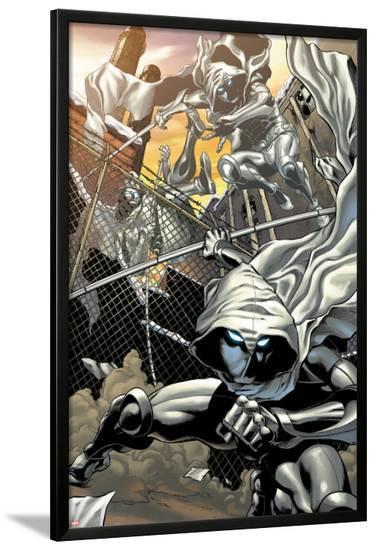 Heroes for Hire No.3: Moon Knight Jumping-Brad Walker-Lamina Framed Poster