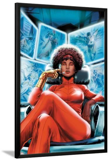 Heroes for Hire No.4 Cover: Misty Knight Sitting-Doug Braithwaite-Lamina Framed Poster