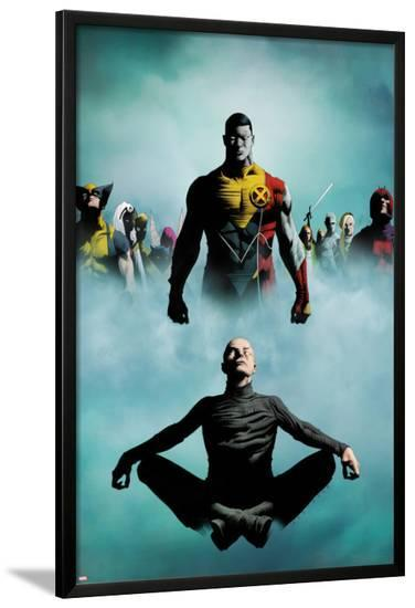 Heroic Age: X-Men No.1 Cover: Colossus, Wolverine, Storm, Rogue, and Magneto-Jae Lee-Lamina Framed Poster