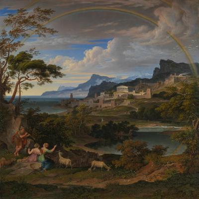 Heroic Landscape with Rainbow, 1824-Joseph Anton Koch-Giclee Print