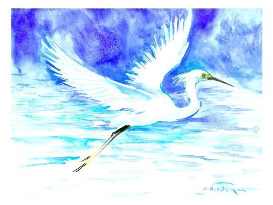 Heron 5-Suren Nersisyan-Art Print