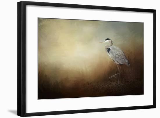 Heron at the Inlet-Jai Johnson-Framed Giclee Print