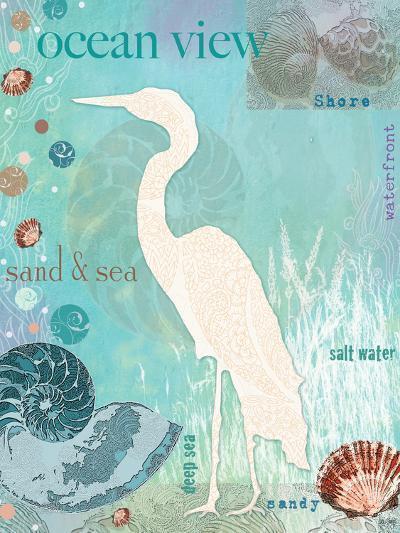 Heron Beach-Bee Sturgis-Art Print