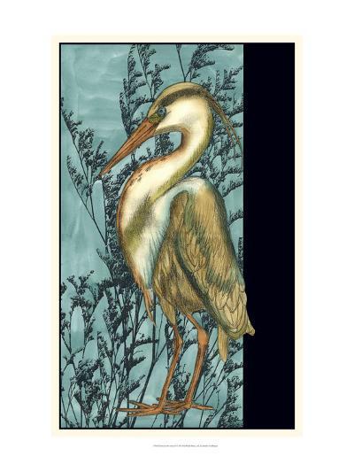 Heron in the Grass II-Jennifer Goldberger-Art Print