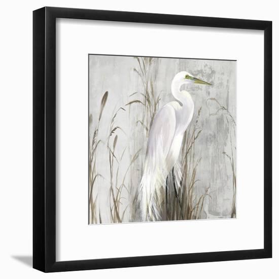 Heron in the Reeds-Aimee Wilson-Framed Art Print