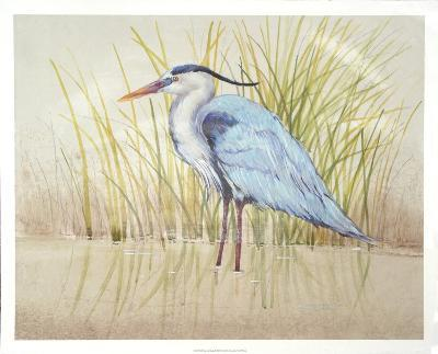 Heron & Reeds II-Tim O'toole-Art Print