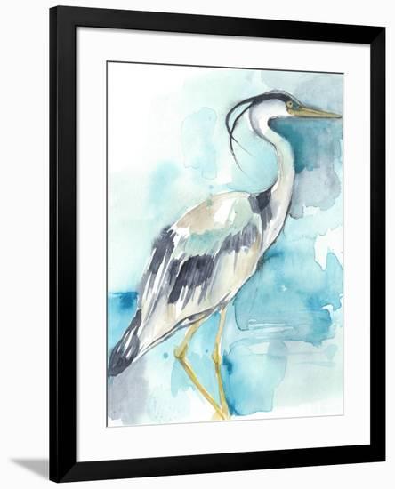Heron Splash I-Jennifer Goldberger-Framed Art Print